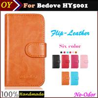 """Bedove HY5001 5.0 """"6 colores MTK6589 del cuero del tirón Móvil La bolsa ultrafina del resbalón resistente cubierta protectora de la vendimia retro del libro"""