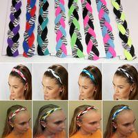 baseballs zebras - baseball softball sports headbands Zebra elastic nylon headbands for girls braided mini non slip hairbands stay in place keep your focused