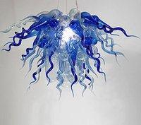 antique art deco chandeliers - Flower Chandelier Unique Lighting Hand Blown Glass Led Antique Pendant Light v v