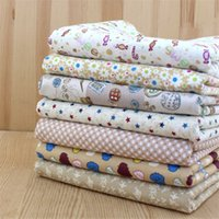 baby cocoa - New CM Milk Cocoa Series Printed Cotton Fabric Quarter Bundle Sewing DIY Patchwork Baby Toy Quilt Bedding Tecido Telas