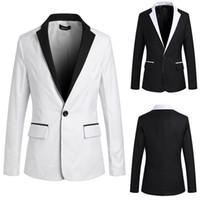 Wholesale Men Casual Suit White and Black Spell Colour K15
