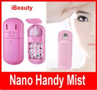 Wholesale iBeauty Nano Handy Mist Skin Care Atomization Facial Humectant facial steamer Moisturize Portable Nano face Steaming Device Drop