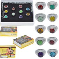 akatsuki ring sasori - 10PCS Naruto Anel Black Akatsuki Ring Set Sasori Itachi Hidan Deidara