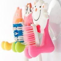 Wholesale 2015 new Cute Cartoon Animal Sucker Toothbrush Holder Suction Hooks Hot sale