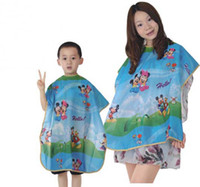 Cheap Salon Hairdressing kids capes children Professional hair cutting clothes beauty kid hairdressing capes Salon Barber smock for baby kid's