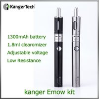 air flow black - Kanger EMOW Starter Kit mAh EMOW Variable Voltage Battery and EMOW Dual Coil Pyrex Air Flow Adjustable Aerotank Mow Clearomizer