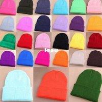 Wholesale Plain Beanie Knit Ski Cap Skull Hat Warm Solid Warm Cuff Blank Beany