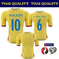 romania-soccer-jersey - Whosales Camisa Romania Soccer Jerseys Romania Jersey New Euro Cup home Away Custom Maxim Football Shirt CHIRICHES