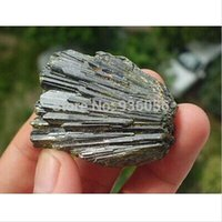 bamboo quartz - RARE NATURAL green Tourmaline quartz crystal original Specimen feng shui stone decoration