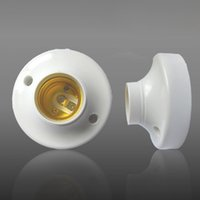 Wholesale White Color ABS Material AC85 V E27 Lighting Lamp Base Holder with Color Box Package