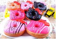 10cm Kawaii hola Kity Buñuelo colgante Squishies Jumbo Donut encanto del bolso Envío Gratis Llaveros por mayor para el teléfono grande Rare pan blando