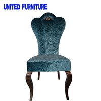 Wholesale 2015 Special promotion chair Metal fabric dining chair stylish dining chair hotel chair Dining Room Furniture