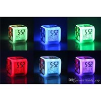 Wholesale Minecraft Alarm Clock LED Night Lights Colors Change Digital Alarm Clock Colorful Change Toys Digital Alarm Clock Minecraft Flash Light