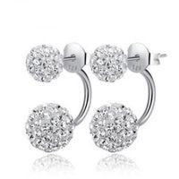 Cheap Luxury Austriz Crystal Beads Earring,Free Shipping 925 Sterling Silver Jewelry Earring Studs OE92