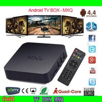 Wholesale Online Update MXQ TV BOX Amlogic S805 Quad Core Android Airplay TV Channels Programs Media Player Mini PC Miracast KODI14 up