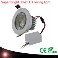 Wholesale Super bright led COB spotlight bulb W Hole size mm AC110V V LED Spot light led ceiling lamp For Home Lighting