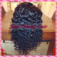 lace wigs for african american - Hot deep curly brazilian virgin human hair full lace wig glueless front lace wig for african americans
