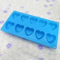 Wholesale FDA Silicone Pan Muffin Cupcake Bake Mould Bakeware Cups Heart Dishwasher Safe Versatile Sturdy Cooking Tools Kitchen Chocolate Tools