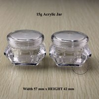 acrylic lotion bottles - 15g x10pc Acrylic Plastic Jar With Lid Empty Cosmetic Makeup Mascara Hand Cream Jars Containers Lotion Bottles Pot