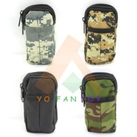 Cheap Two Layers Military Cell Phone Pouch Tactical Double Layers Mobile Phone Carrying Pouch Zipper Bag Pocket Case