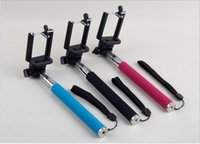 Wholesale For iphone6 Self Timer Extendable Handheld Self portrait Monopod selfie stick Photograph Bluetooth Shutter Camera Remote Controller For S5