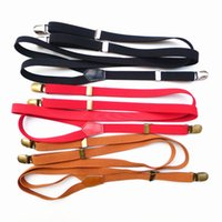 Wholesale New retro ployester elastic suspenders clip braces men general england clothing recessionista suspenders for men and women