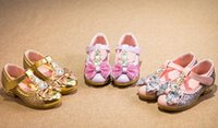 Wholesale Crystal diamond girl spring autumn shoes PU years baby fashion casual shoes children soft shoes pair B1