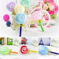 baby washcloths new - 2016 New Fashion Hot Sale Cute Lollipop Baby Cotton Washcloth Towel Party Favor Xmas Randomly