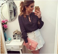 Cheap Plus Size Blusas Femininas Blusa De Renda Polka Dots Vintage Blouse Long Sleeve Women Blouse