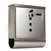 Wholesale 335x300x90mm Waterproof Newspaper Boxes Mailbox Letter Post Box Lockable Steel Silver Wall Mounted Outdoor