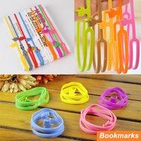 Wholesale 6 Silicone finger print Handy bookmarks Book holder papelaria marcador de livro Stationary Office School supplies