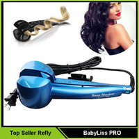 Wholesale Automatic Hair Curlers lcd BebyLiss PRO Hair curl Styler Rotating Hair curling irons Steamer Refly