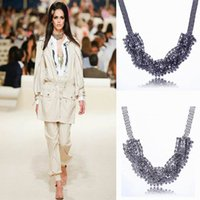 Wholesale Women Rhinestone Statement Necklace Choker Charm Jewelry For Party Colors Choose XL5600