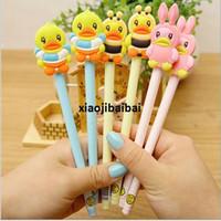 Wholesale Korea Stationery zf small yellow duck gel pen Variety yellow duck whole needle gel pen
