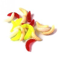 Wholesale New Arrive set Artificial silicone cm Fishing Lure Maggot Grub Soft Baits Worms Fish Lure