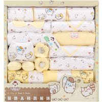 Wholesale hot sales new style newborn gift clothes set cute cat print cotton clothing set gift infant