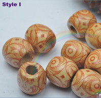 Wholesale 100pcs large wooden Loose beads Jewelry accessories DIY size MM Optional colors