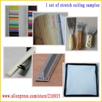 stretch ceiling - 1 Set of Stretch Ceiling Film Samples with Aluminum profile Stretch Ceiling PVC harpoon Spatulas