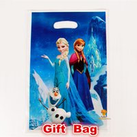 Cheap Frozen movie Elsa Anna kid boy girl baby happy birthday party decoration supplies favors frozen candy gift loot bags 6 people
