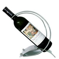 Wholesale Authentic curved stainless steel wine rack wine wine wine rack wine holder creative home Decoration