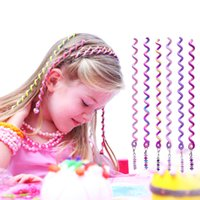 fashion hair ornament - 2016 new Fashion children hair spiral ornaments girl Polymer clay hair spiral jewelry color set