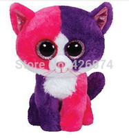 big eyed cats - Orignal TY Beanie Boos Big Eyed Stuffed Animals Pellie Cat Plush Toys For Children Gifts Kids Toys CM