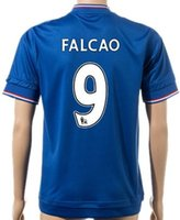 Wholesale 2015 Chelsea Home Soccer Jerseys CAHILL MATIC FALCAO HAZARD Blue Thai Quality Top Shirt Customized Name Number