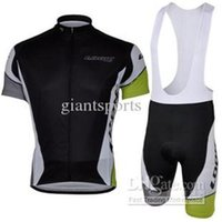 Wholesale Cycling jersey black short sleeve cycling clothing cycling Close fitting bib short kits clothing sets