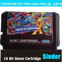 Wholesale New classical bit md game card for bit game console Rock Man X3