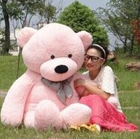 Wholesale 2015 New ARRIVE Giant CM inch TEDDY BEAR PLUSH HUGE SOFT TOY m Plush Toys Valentine s Day gift Birthday gifts New Year s gift PINK