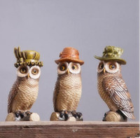 Wholesale Owl model handicraft furnishing articles creative decorations owl novel household ornaments and a birthday present
