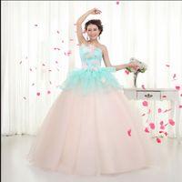 anchor ribbon embroidery - New Arrival Hot Sale Fashion Elegant Luxury Princess Organza Royal Solo Anchor Tutu Stage Toast Flowers Bridal Wedding Dress