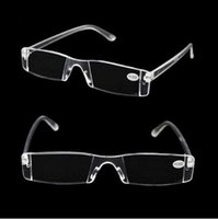 Wholesale 2015 White Reading Glasses Clear Rimless Eyeglasses Presbyopia Diopter