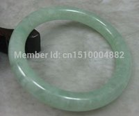 nature green jade bracelet - shitou NATURE BEAUTIFUL GREEN JADE JADEITE BRACELET BANGLE MM